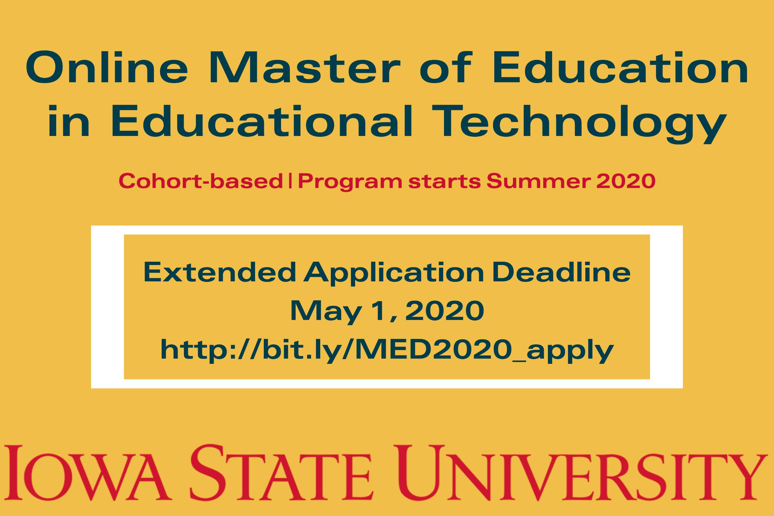 online med program deadline- may 1
